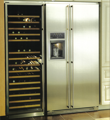 r novation de l 39 habitat les r frig rateurs et les caves vins. Black Bedroom Furniture Sets. Home Design Ideas